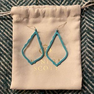 Matte Aqua Kendra Scott Sophee Drop Earrings